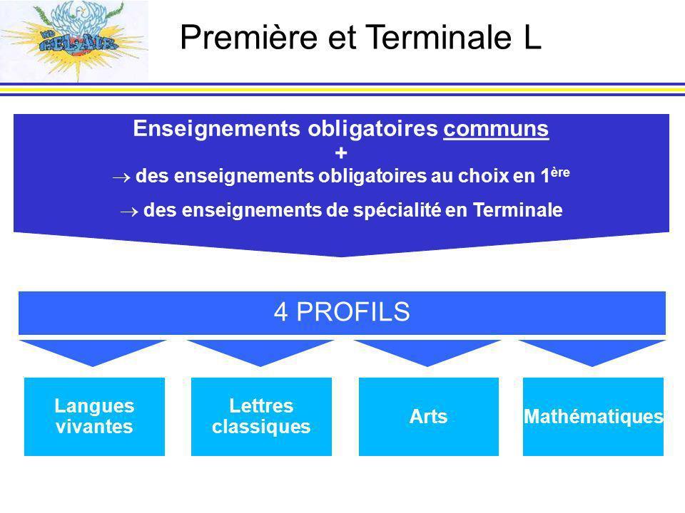 Première et Terminale L