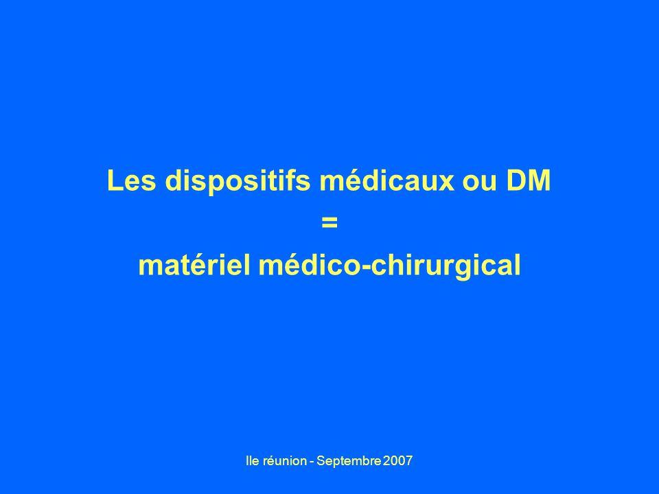 Les dispositifs médicaux ou DM