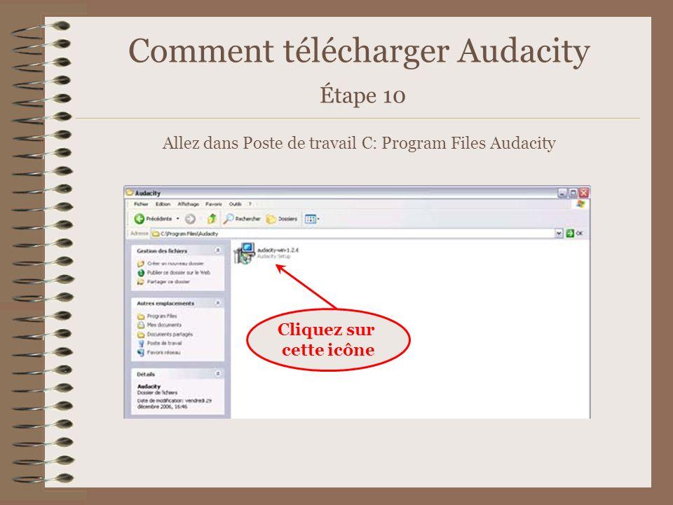 Comment télécharger Audacity Étape 10