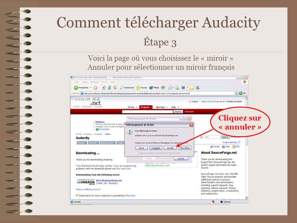 Comment télécharger Audacity Étape 3
