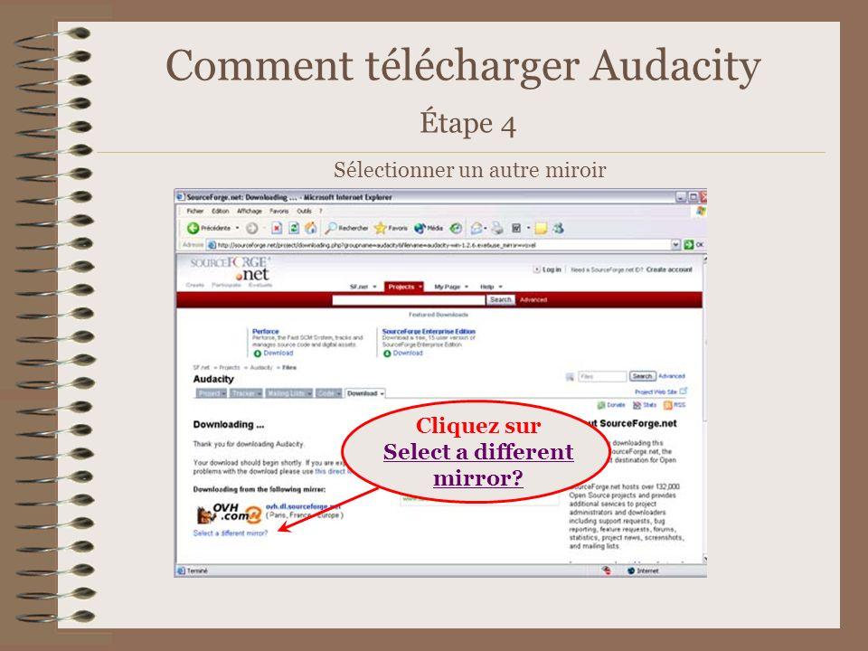 Comment télécharger Audacity Étape 4