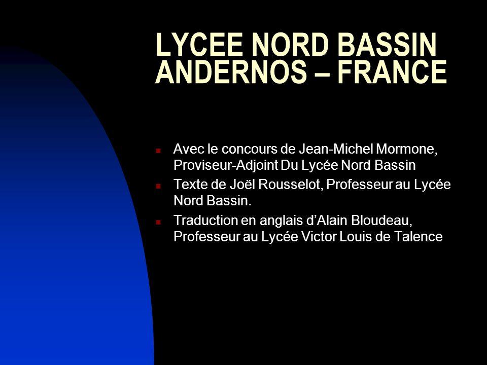 LYCEE NORD BASSIN ANDERNOS – FRANCE