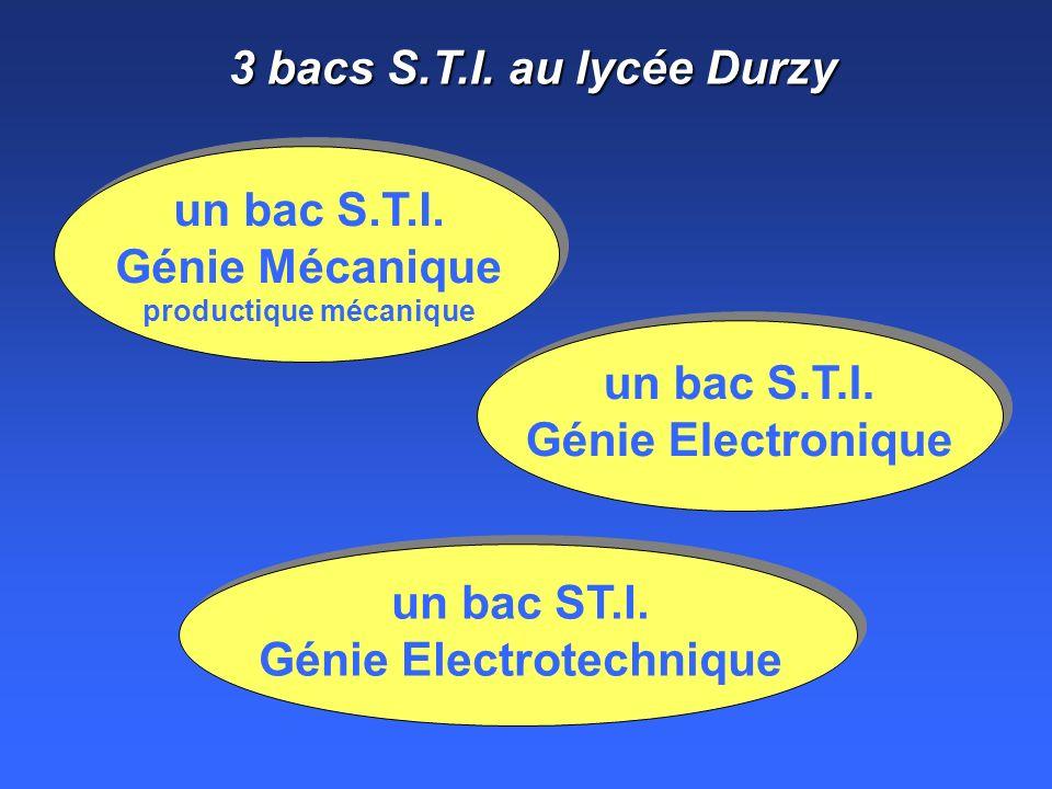 un bac S.T.I. Génie Mécanique productique mécanique
