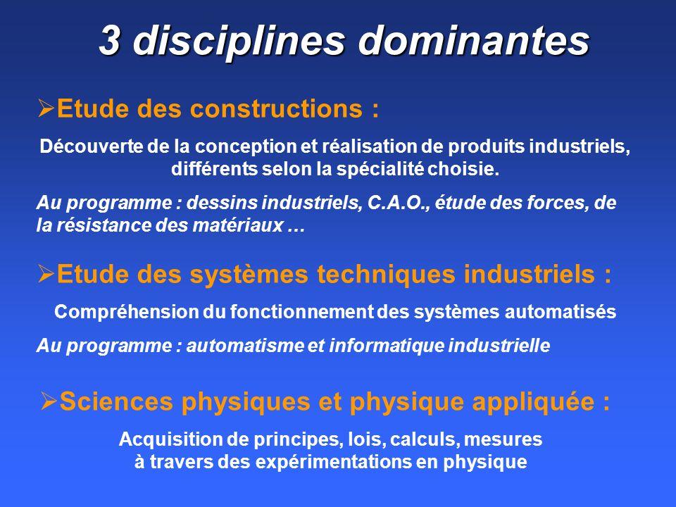 3 disciplines dominantes