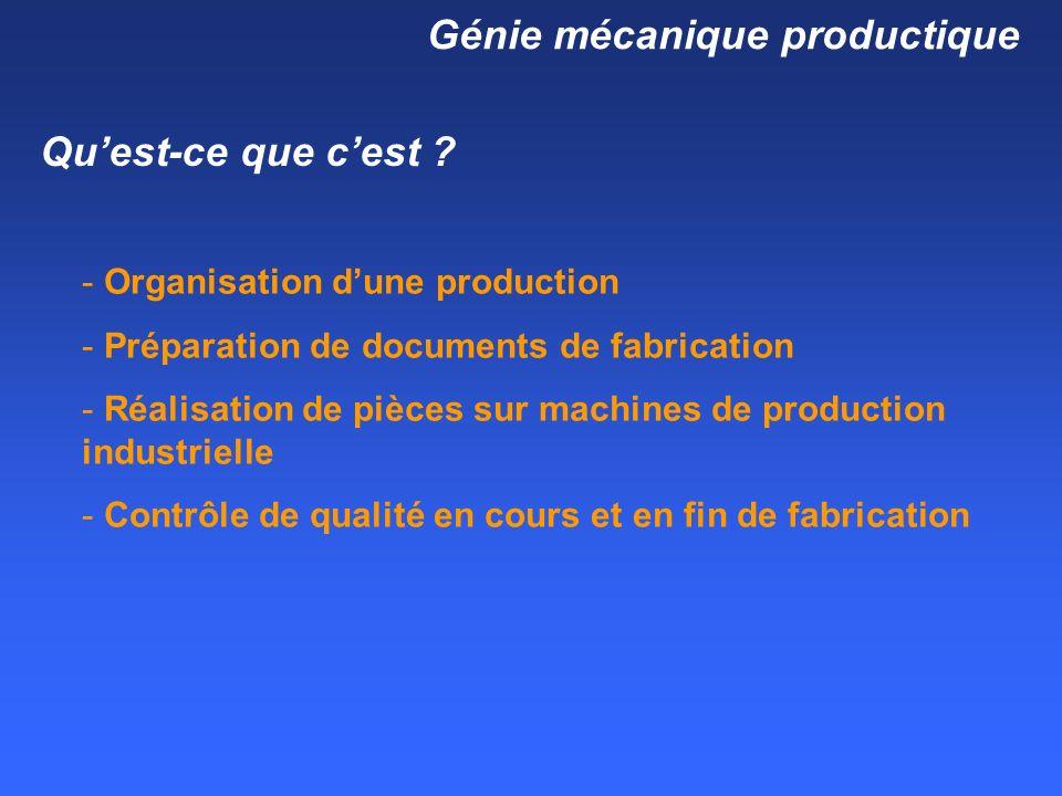 Génie mécanique productique