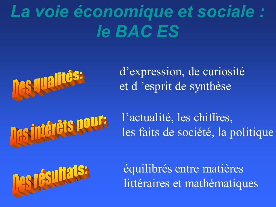 La voie économique et sociale : le BAC ES