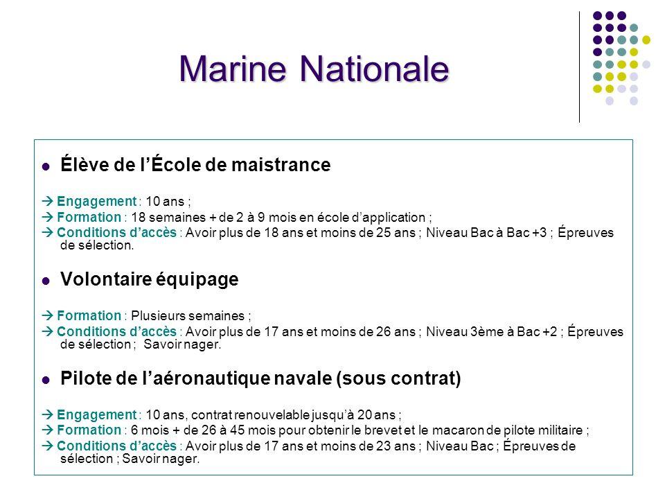 Marine Nationale Élève de l'École de maistrance Volontaire équipage