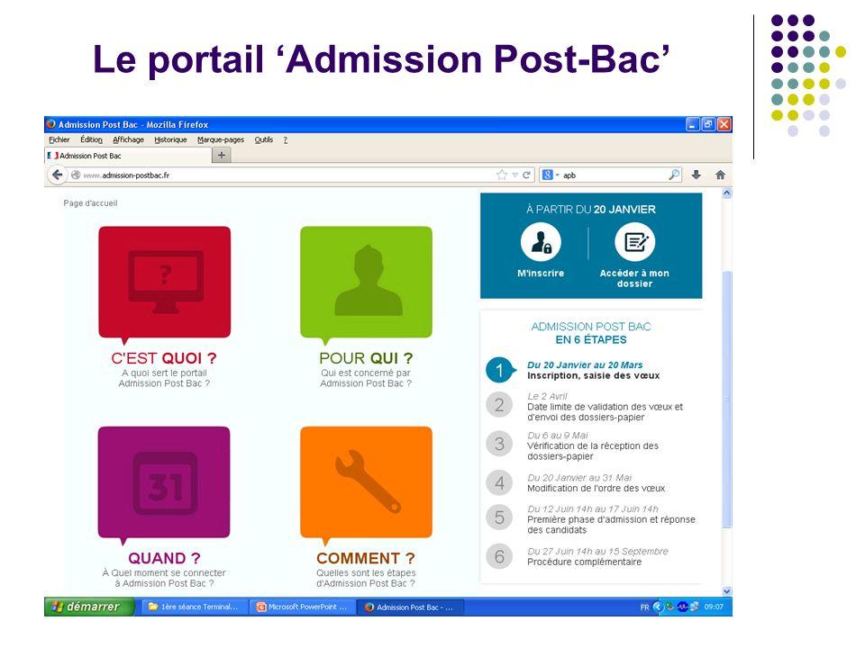 Le portail 'Admission Post-Bac'