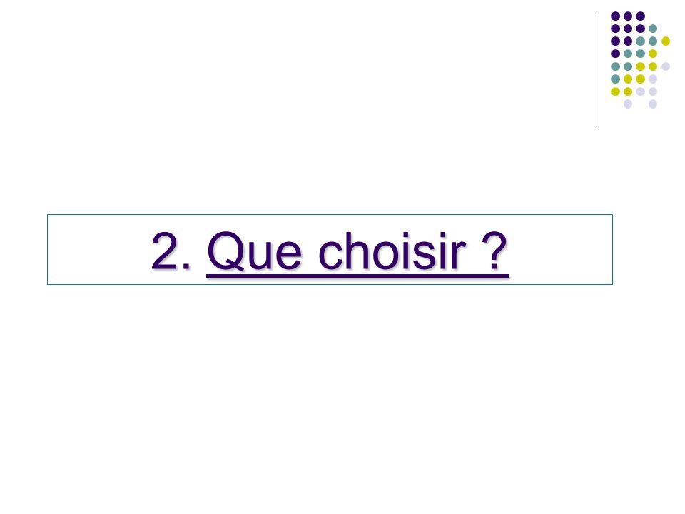 Que choisir