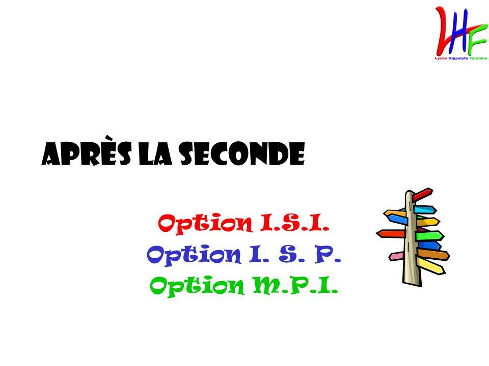 Option I.S.I. Option I. S. P. Option M.P.I.