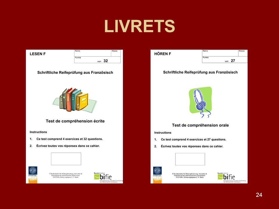 LIVRETS
