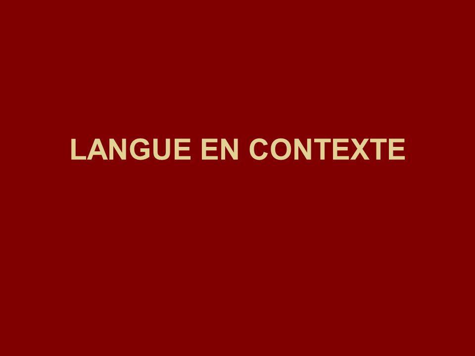 LANGUE EN CONTEXTE