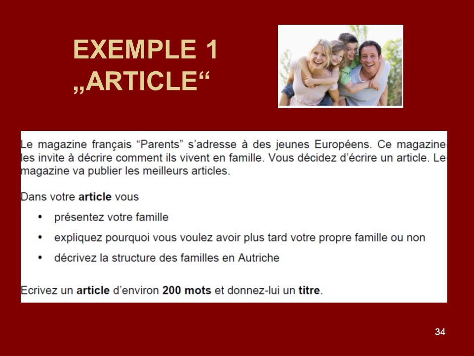 "EXEMPLE 1 ""ARTICLE"