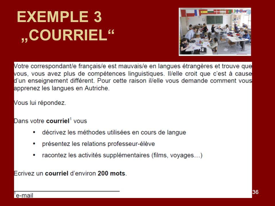"""EXEMPLE 3 """"COURRIEL"""