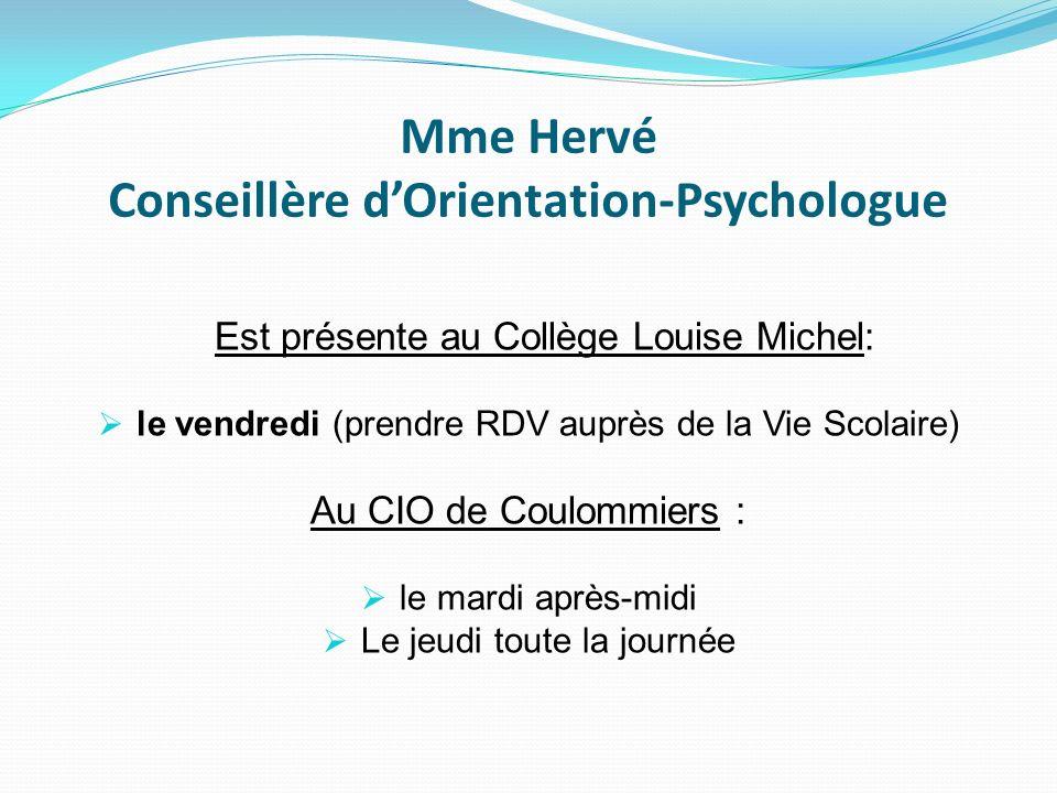 Mme Hervé Conseillère d'Orientation-Psychologue