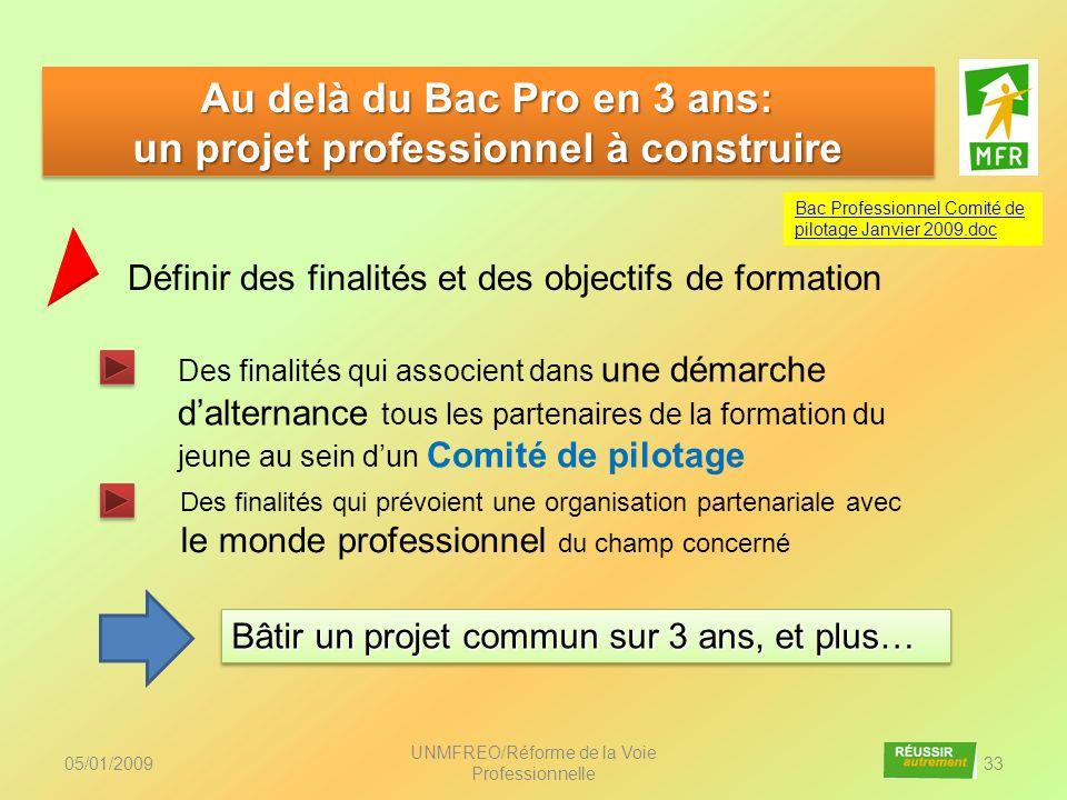 Au delà du Bac Pro en 3 ans: un projet professionnel à construire