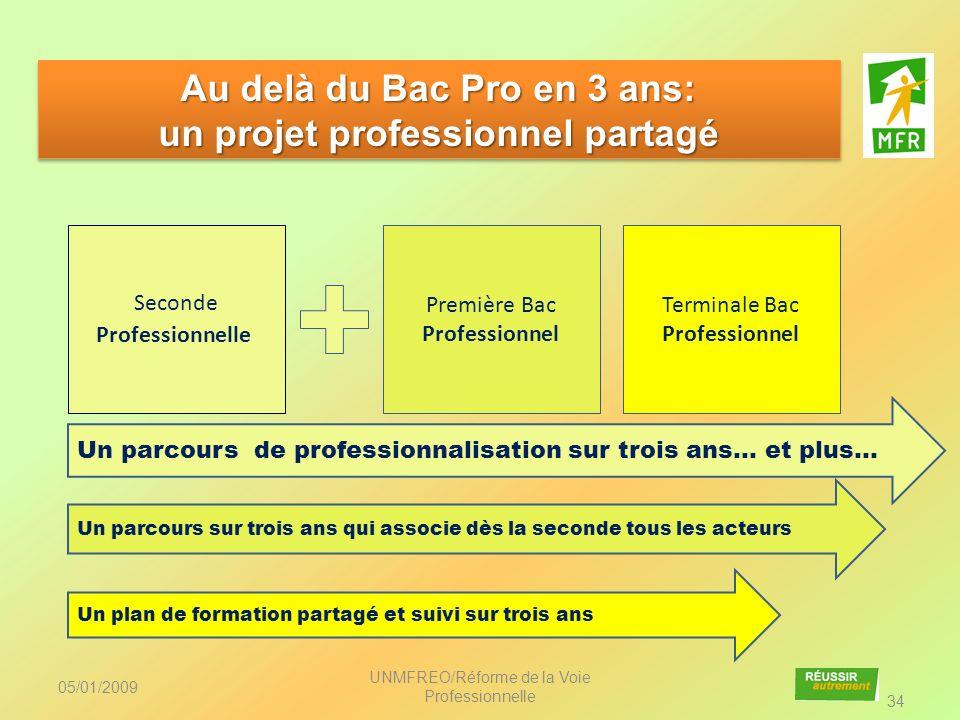 Au delà du Bac Pro en 3 ans: un projet professionnel partagé