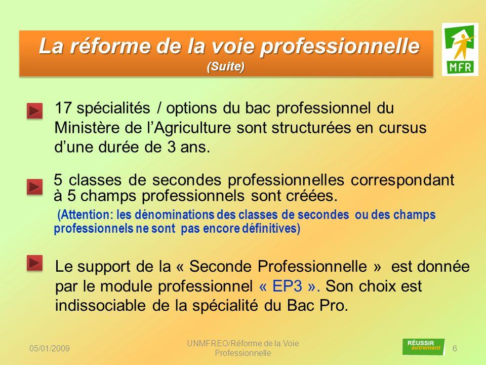 La réforme de la voie professionnelle (Suite)
