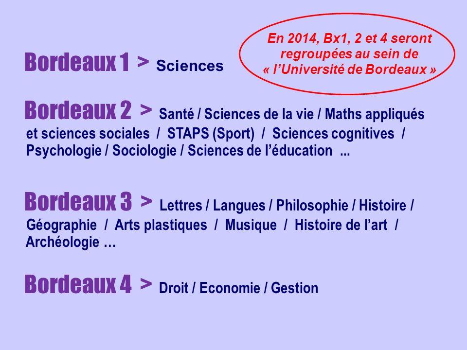 Bordeaux 1 > Sciences