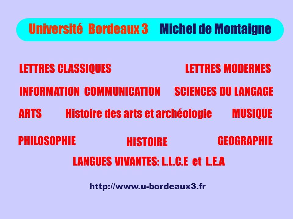 Université Bordeaux 3 Michel de Montaigne