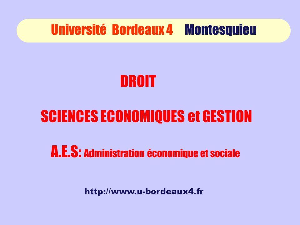 SCIENCES ECONOMIQUES et GESTION