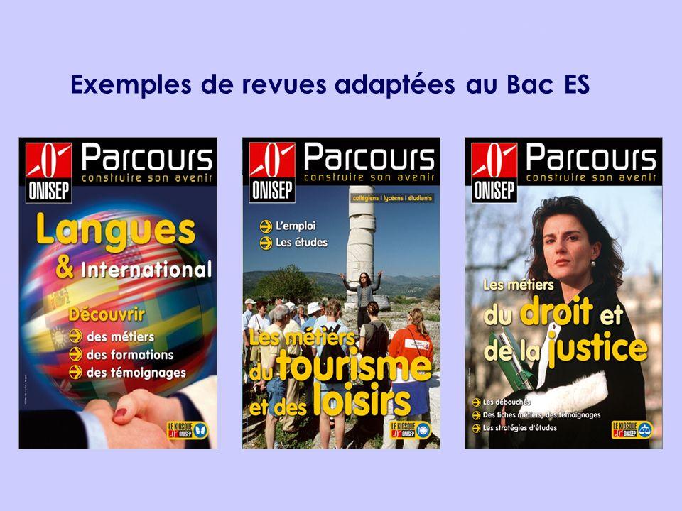 Exemples de revues adaptées au Bac ES