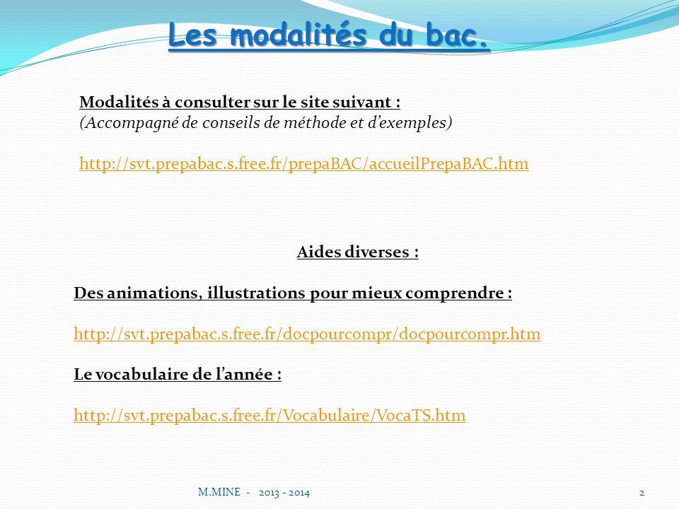 Les modalités du bac. Modalités à consulter sur le site suivant :