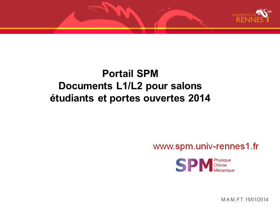 Domaine sciences technologies sant ppt video online for Porte ouverte salon etudiant