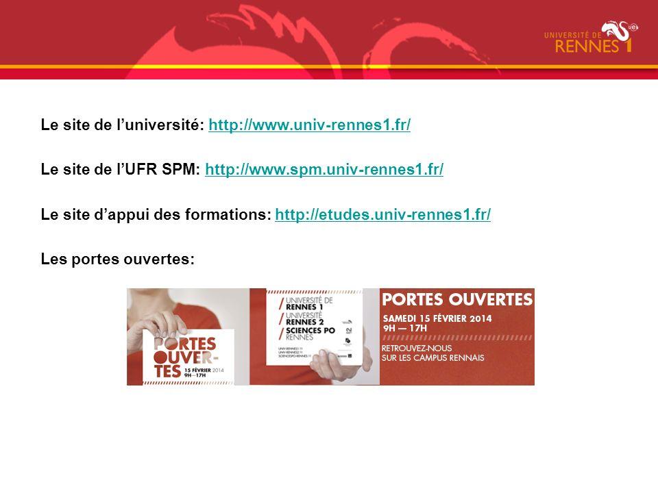 Le site de l'université: http://www.univ-rennes1.fr/