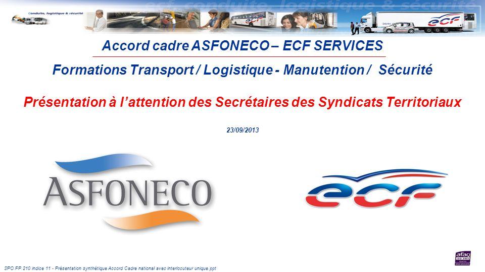 Accord cadre ASFONECO – ECF SERVICES