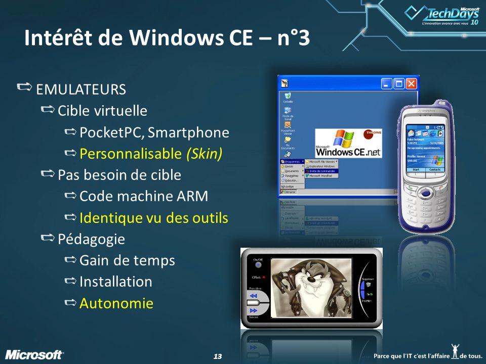 Intérêt de Windows CE – n°3