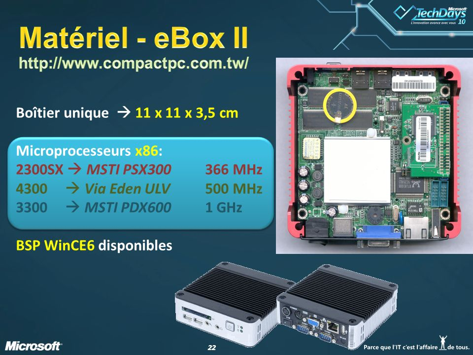 Matériel - eBox II http://www.compactpc.com.tw/