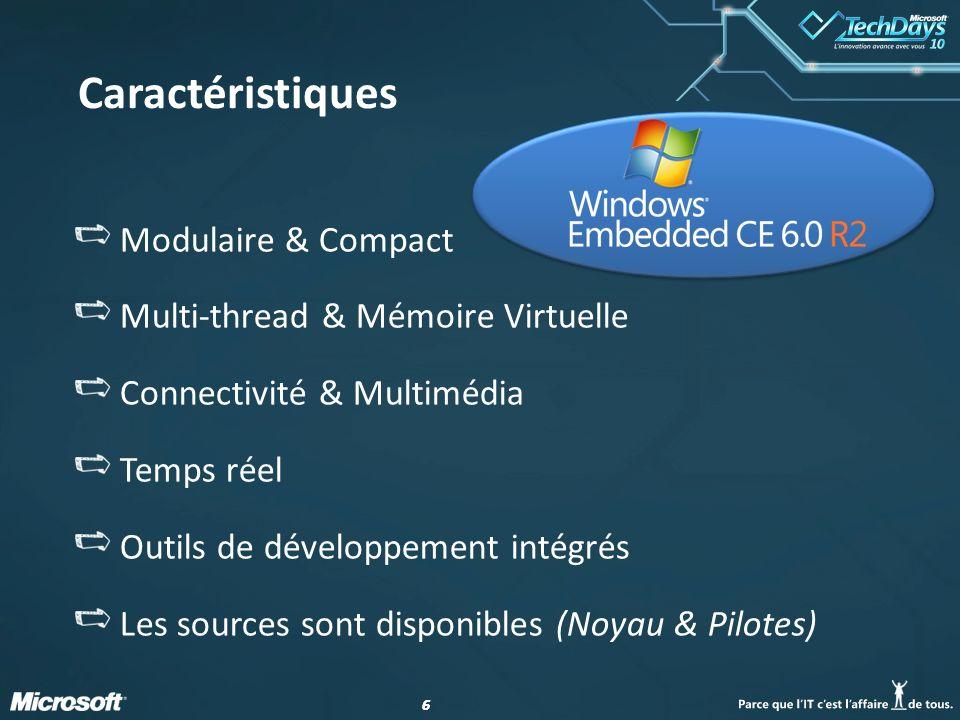 Caractéristiques Modulaire & Compact Multi-thread & Mémoire Virtuelle