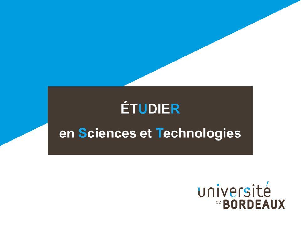 ÉTUDIER en Sciences et Technologies
