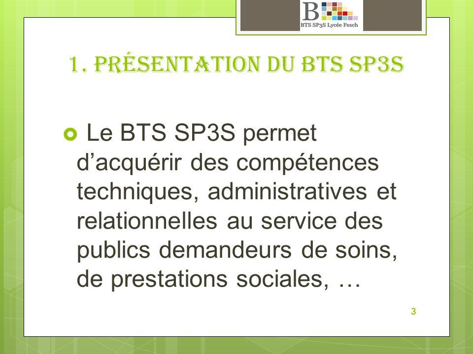 1. Présentation du BTS SP3S