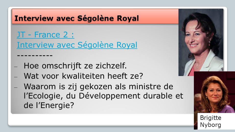 Interview avec Ségolène Royal