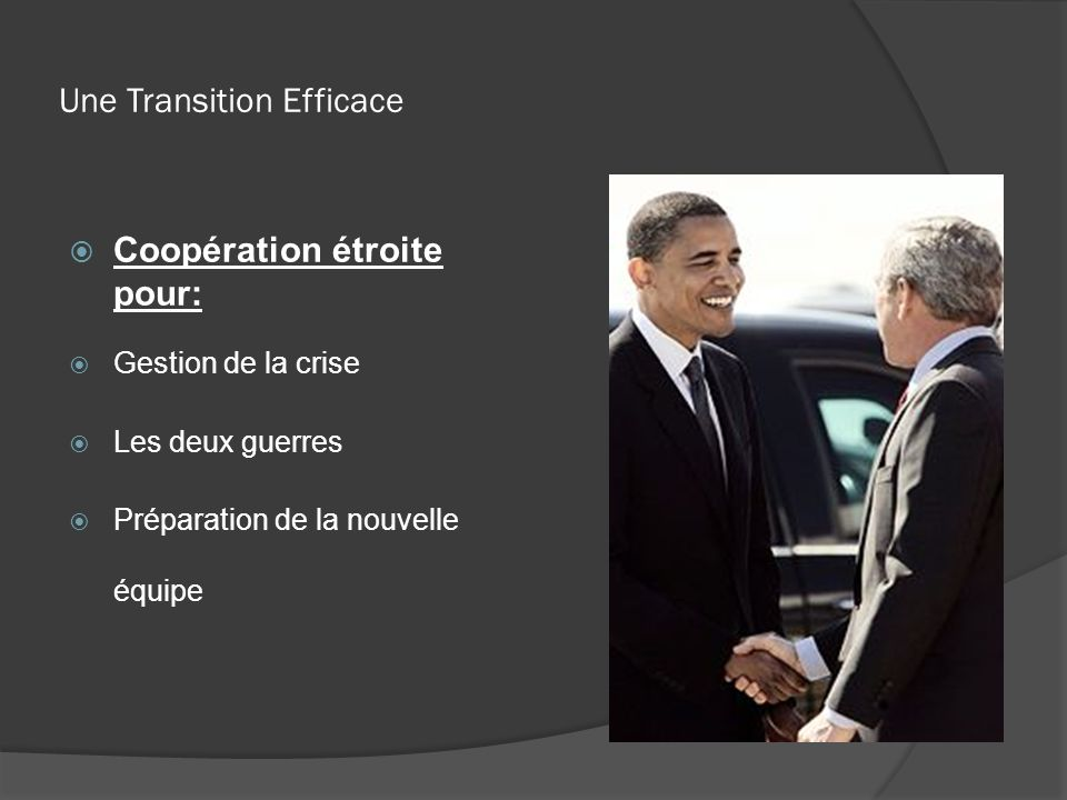 Une Transition Efficace