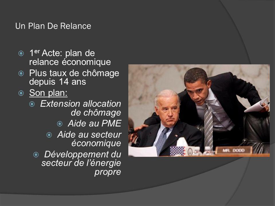 Un Plan De Relance 1er Acte: plan de relance économique. Plus taux de chômage depuis 14 ans. Son plan:
