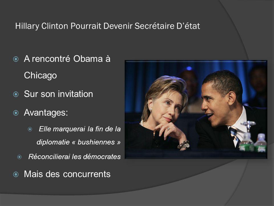 Hillary Clinton Pourrait Devenir Secrétaire D'état
