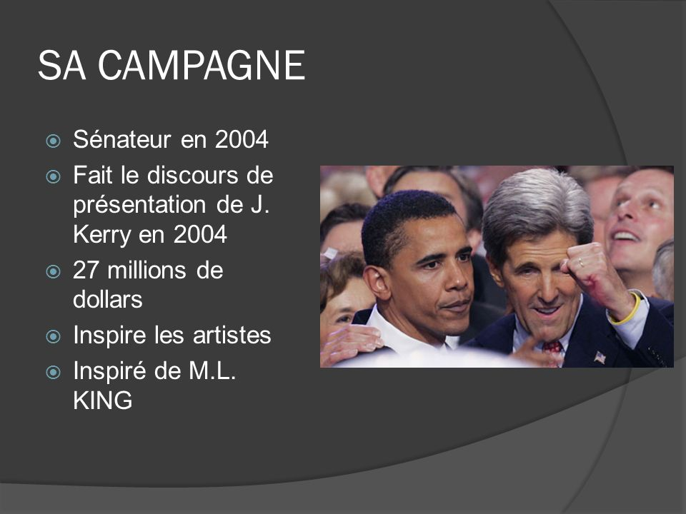 SA CAMPAGNE Sénateur en 2004