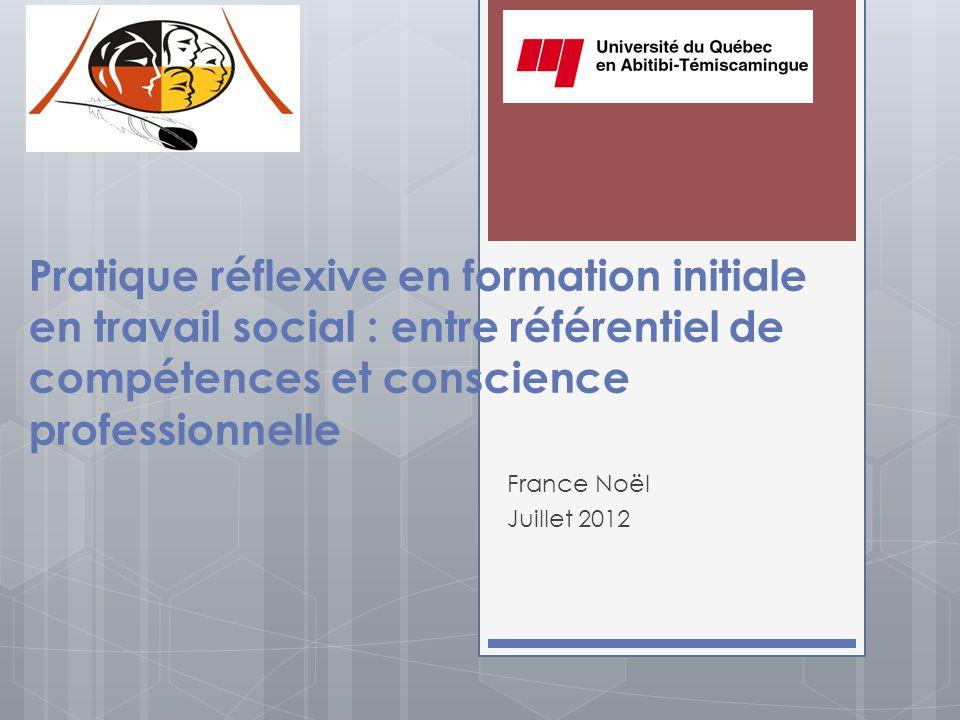 Pratique réflexive en formation initiale en travail social : entre référentiel de compétences et conscience professionnelle