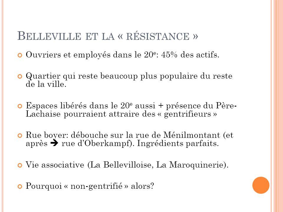 Belleville et la « résistance »