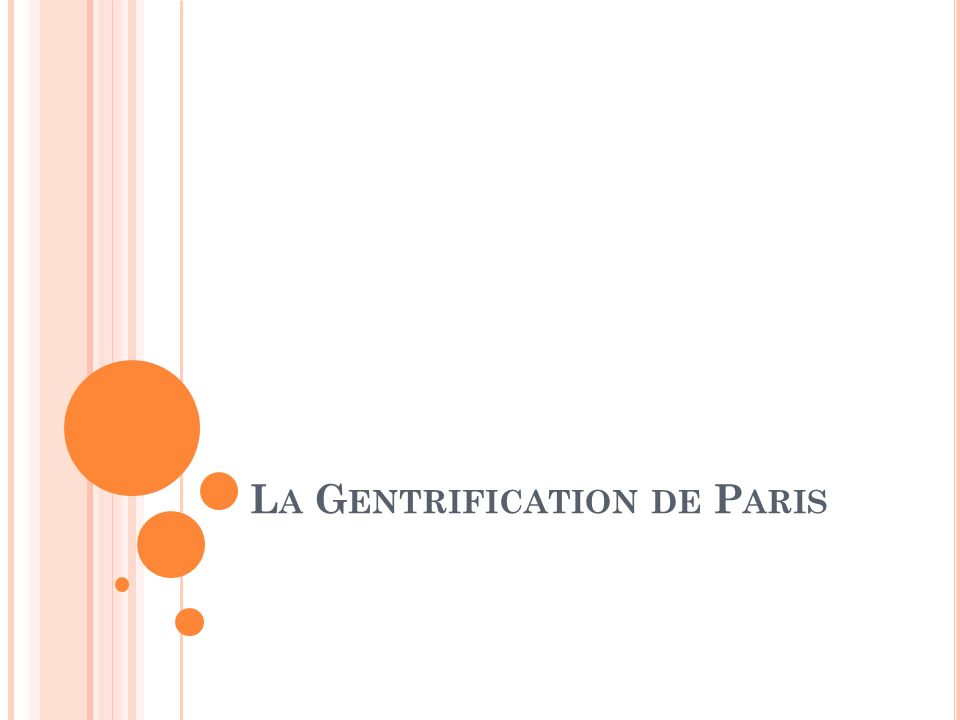 La Gentrification de Paris