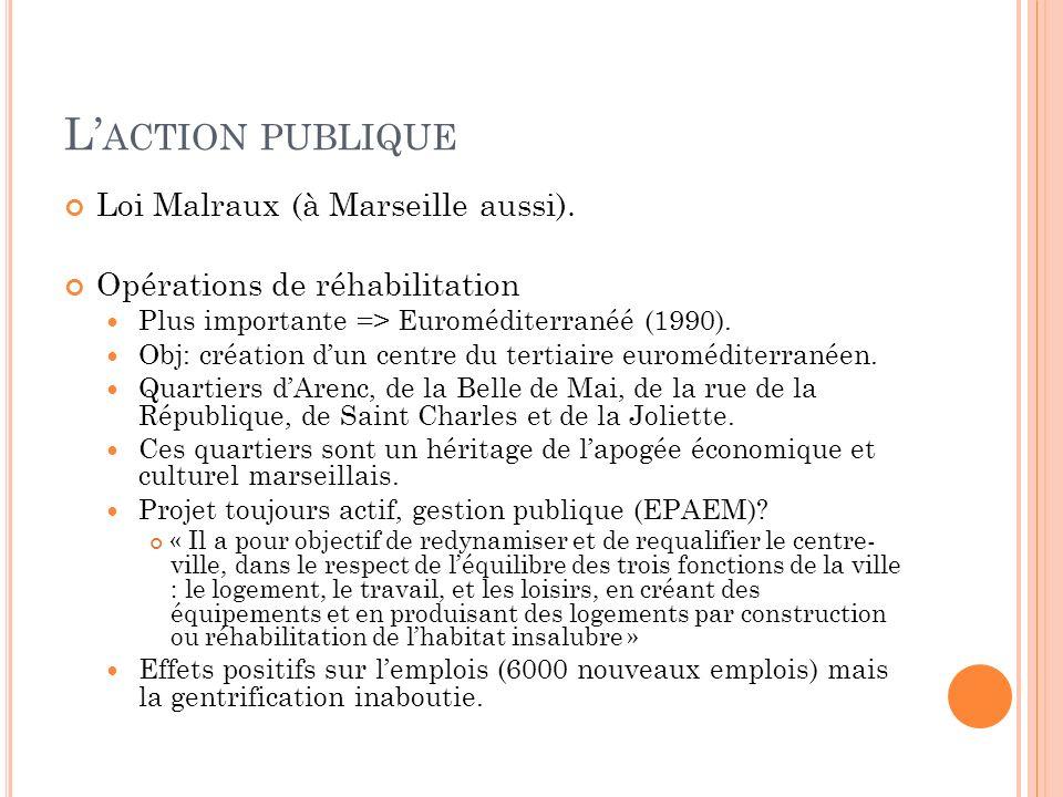 L'action publique Loi Malraux (à Marseille aussi).