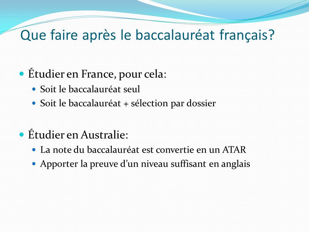 Que faire après le baccalauréat français