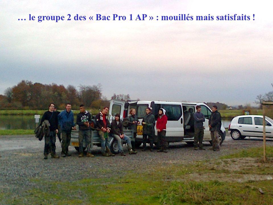 … le groupe 2 des « Bac Pro 1 AP » : mouillés mais satisfaits !