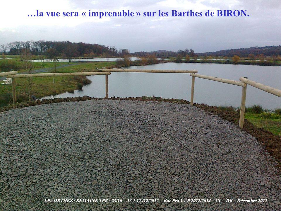 …la vue sera « imprenable » sur les Barthes de BIRON.