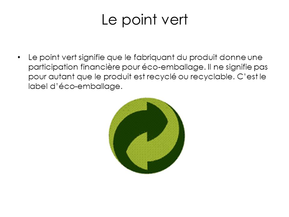 Le point vert