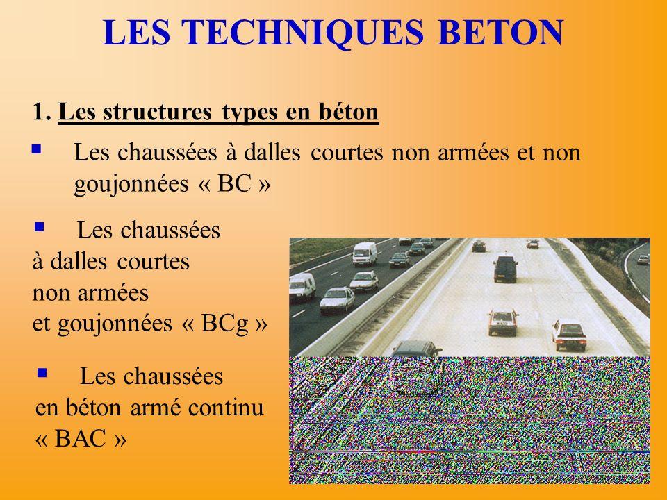 LES TECHNIQUES BETON 1. Les structures types en béton