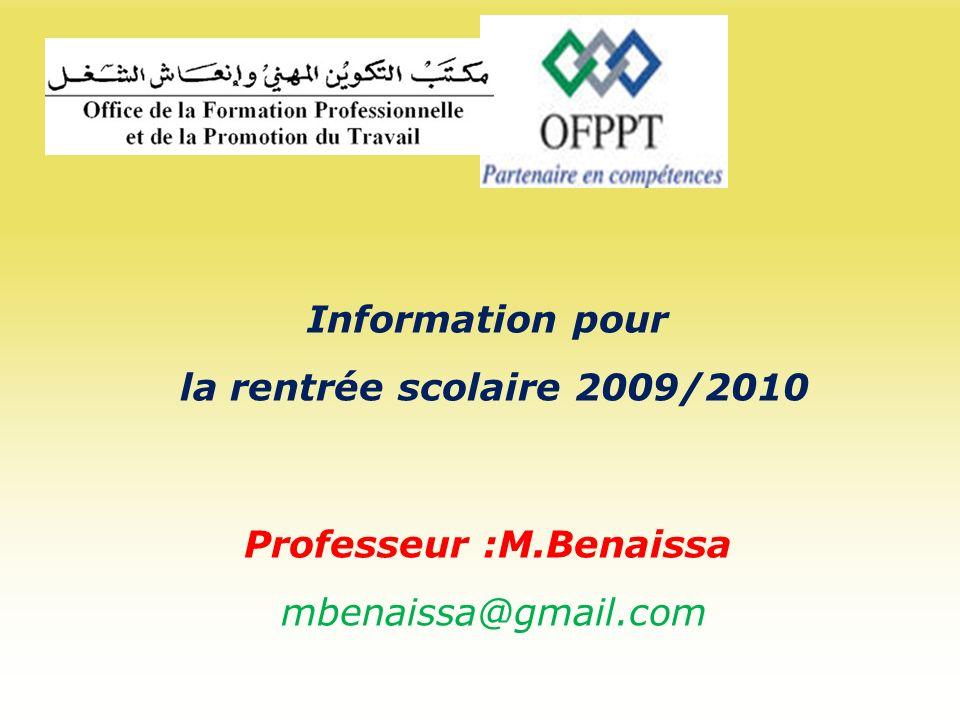 Professeur :M.Benaissa